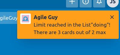 Wip limit warning