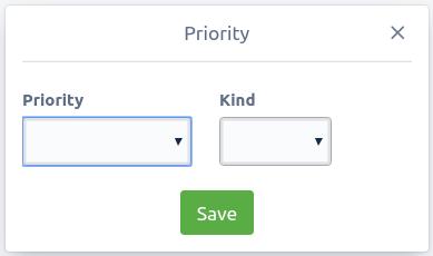 Priority Modal