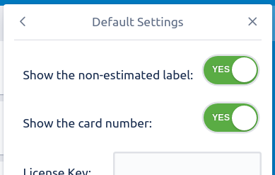 Don't show the default labels